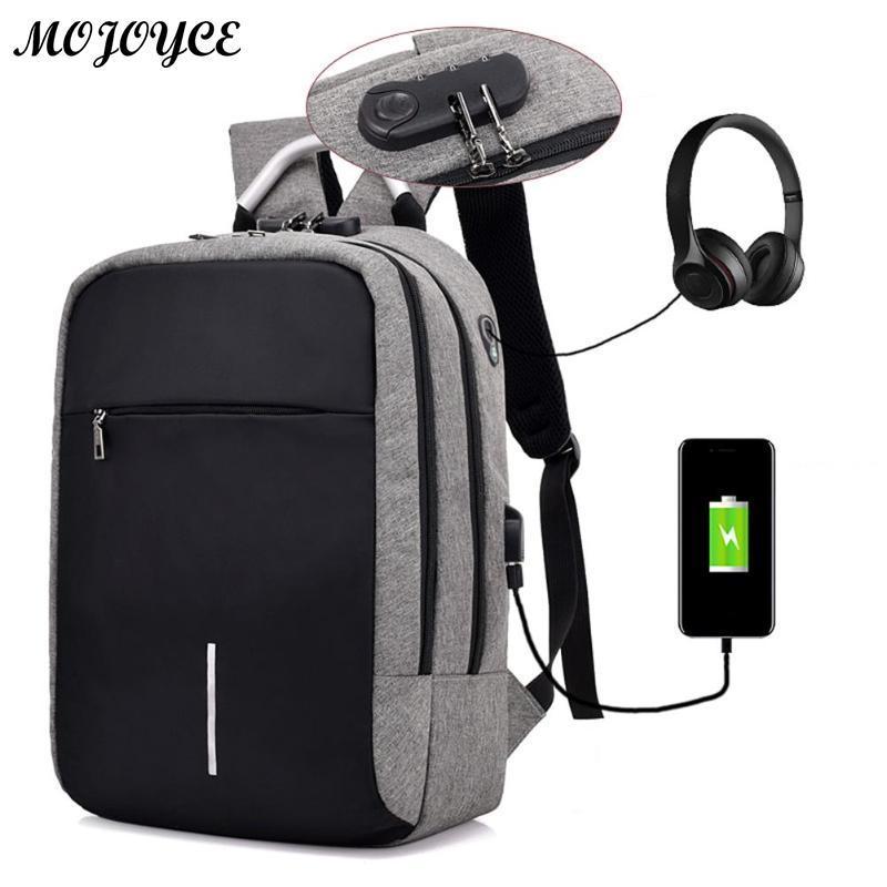 20dc53a925 Acheter Ordinateur Portable Unisexe BackpacAnti Theft USB De Chargement  Voyage Grande Capacité Épaule Cartable Business Solid Fashion Sacs À Dos De  $27.55 ...