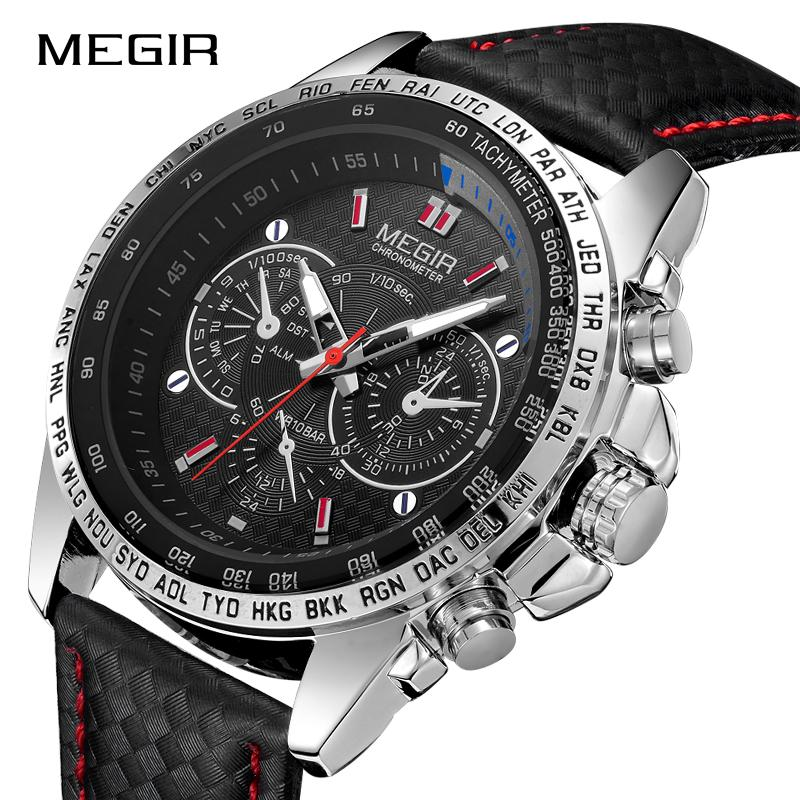 279f9b37eed8 Compre MEGIR Hombres Relojes De Primeras Marcas De Lujo De Cuarzo Reloj De  Los Hombres De Moda Informal Luminoso Impermeable Reloj Relogio Masculino  1010 A ...