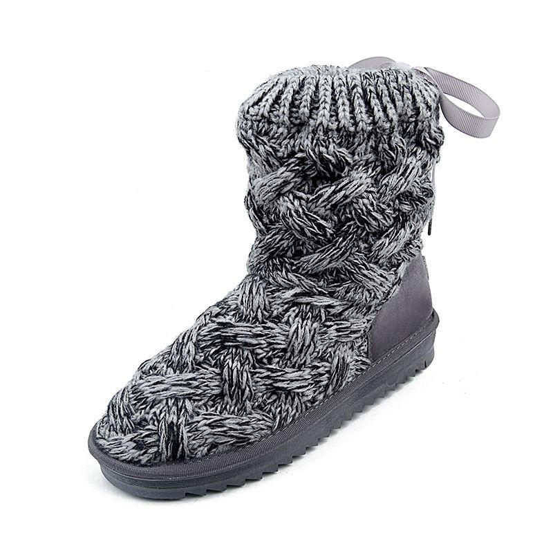 Women's Shoes 2018 New Winter Plus Velvet Cotton Shoes Womens Sports Warm The Lace-up Shoes Short Tube Snow Boots