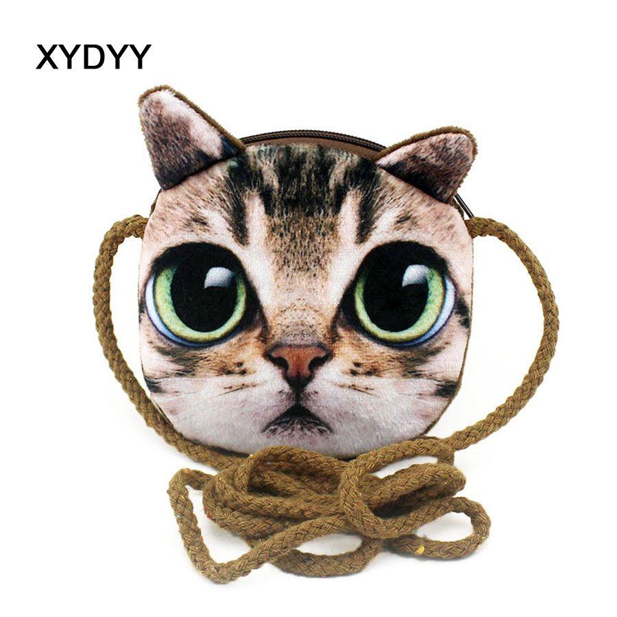 29baf090ac9c XYDYY Kawaii 3D Cats Dogs Animal Prints Kids Coin Purse Girls Plush  Shoulder Wallet Change Pouch Boys Mini Messenger Pouch Bag Wristlet Coin  Purse From ...