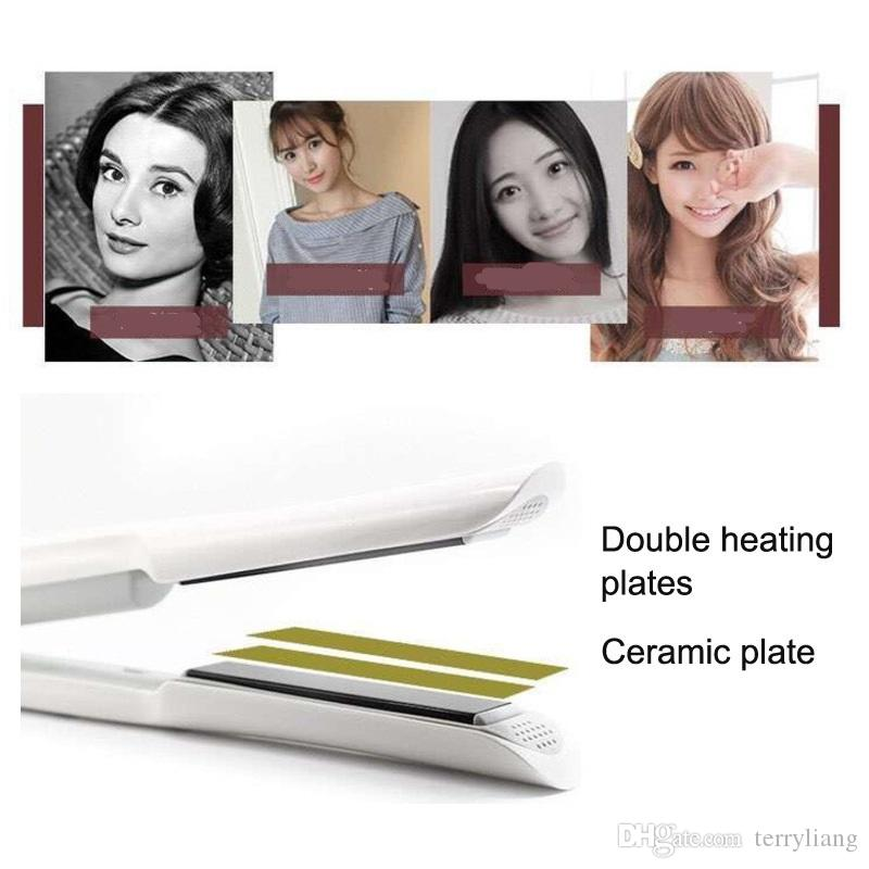 mini portable travel use wireless charging electric hair straightener iron ceramic hairstyle curler li-on battery straighter