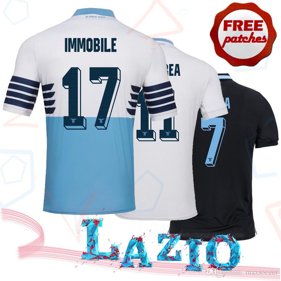 2123537ae Top Thai Quality 2018 2019 Lazio Home Away 3RD Soccer Jerseys J ...
