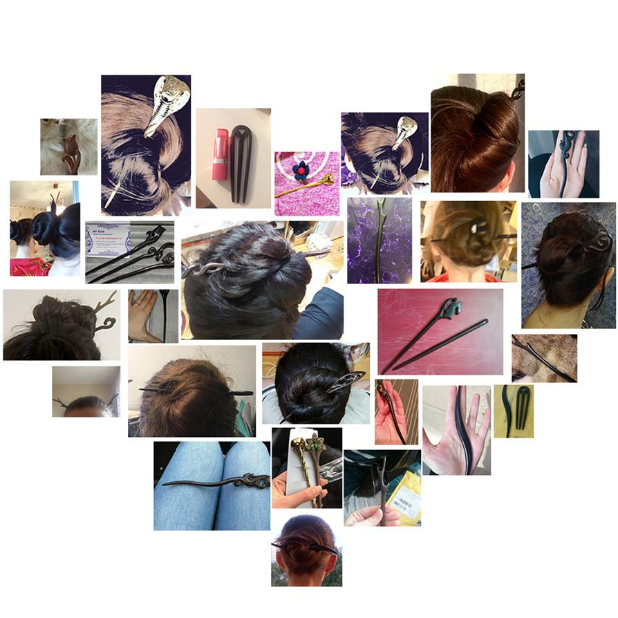 Hair sticks wood ornaments for women diy Handmade natural wooden head jewelry accessories hairwear hairpins wedding bridal