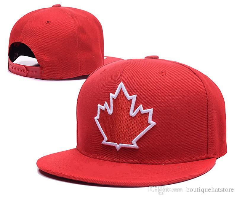 Compre Nova Chegada Toronto Snapback Chapéus Cor Vermelha Bordada Maples  Equipe Logotipo Marca Hip Hop Esportes Bonés De Beisebol Ajustável De ... 85662f8a7376
