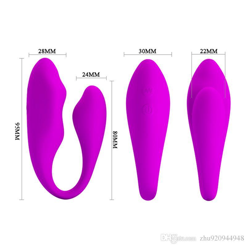예쁜 사랑 30 속도 C 모양 무선 원격 제어 진동 커플 실리콘 더블 모터 섹스 토이 섹스 제품에 대 한 진동