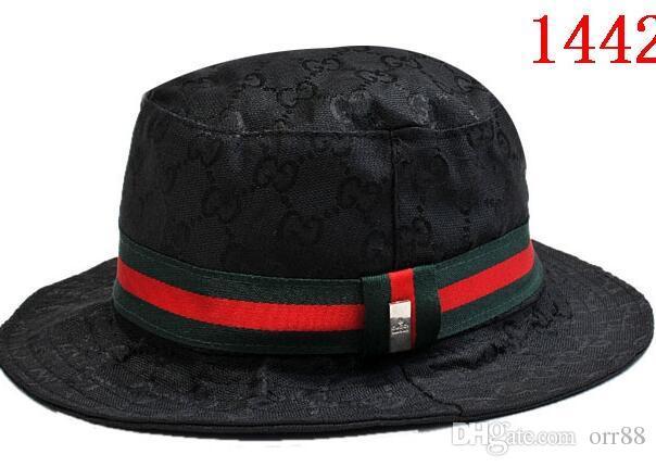Brand Designer Leather Letter Bucket Hat For Mens Womens Foldable ... a3374080136