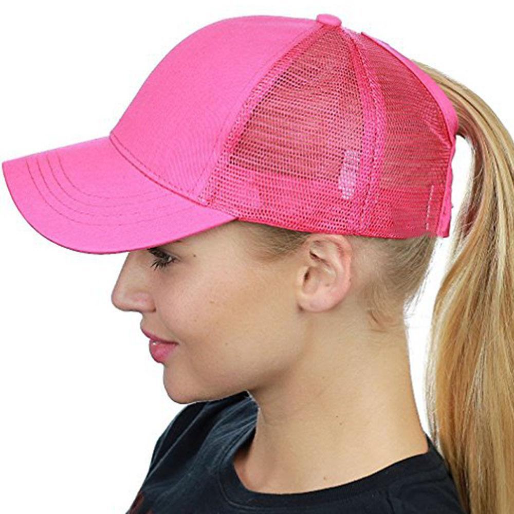 f0babee75b7 2018 Women Ponytail Baseball Cap Messy Bun Snapback Hat Sun Caps Summer  Beach Hat Baby Cap Embroidered Hats From Lantana