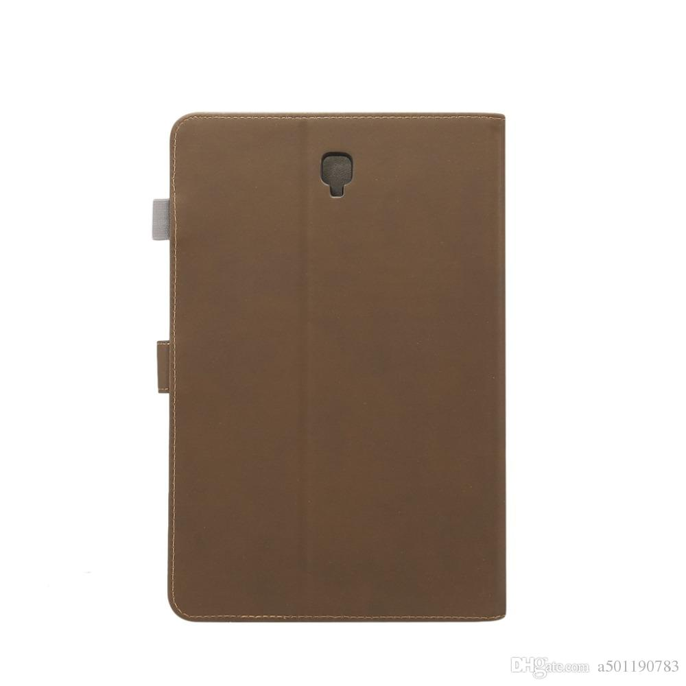 buy popular 4c8ee 79289 PU Leather Case For Samsung Galaxy Tab S4 10.5 T830 T835 10.5 Smart Cover  Tablet Strap Shell Stylus Pen Film