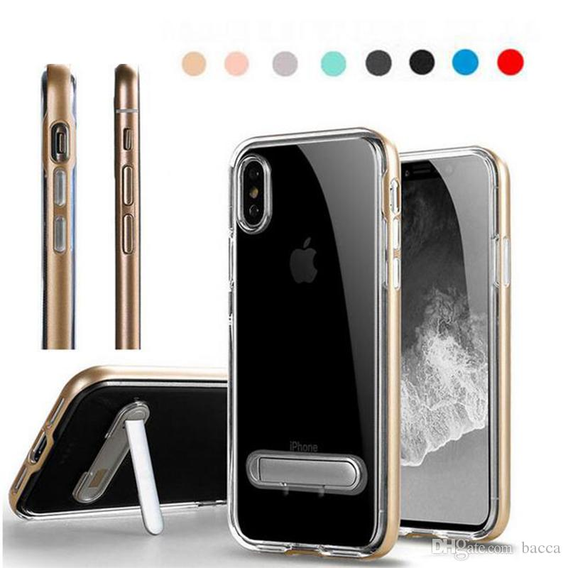 548560ffc6c Carcasas Moviles Para IPhone X 8 7 6 Plus 5S SE Funda Neo Híbrido Ultra  Thin Clear TPU + Funda De PC Funda Para IPhone 8 Fundas Moviles  Personalizadas Por ...