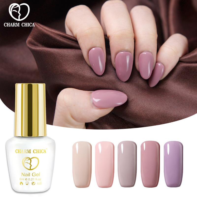 Charm Chica 6ml Gel Nail Polish Pink Nude Colors Soak Off Gel Nail ...