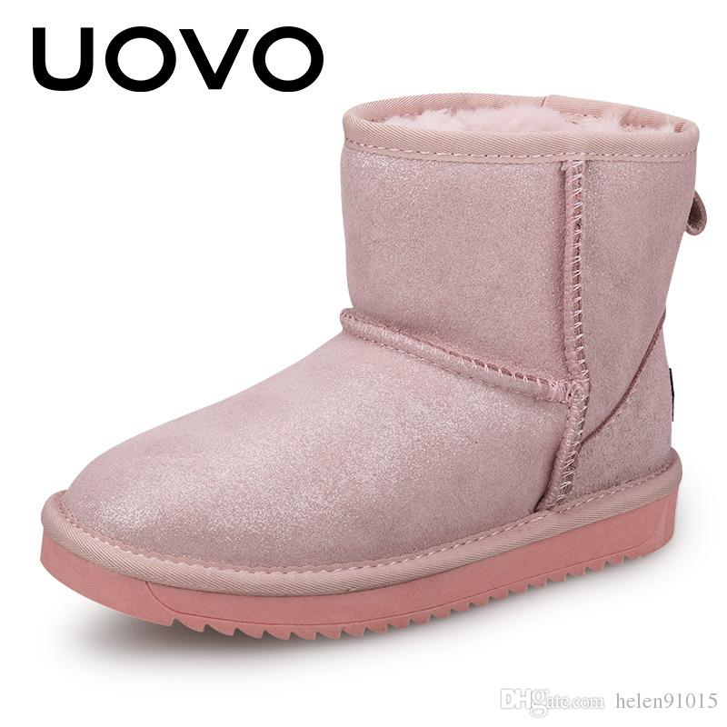 eae500f289ee7 UOVO 2017 New Kids Fashion Boots Lovely Pink Warm Kids Shoes Comfortable  And Beautiful Girls Boots for Eur Size 28-35  Girls Boots Botas Kids Shoes  Online ...