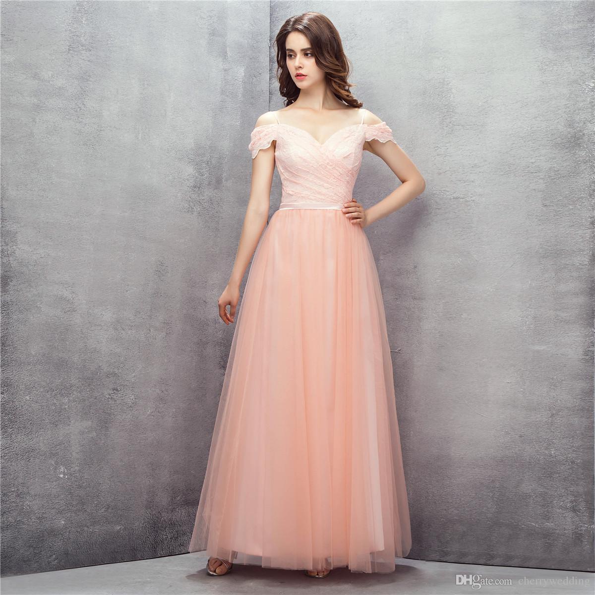 887aa9ee6de Off The Shoulder Dress Evening Dresses 2018 Robe De Soiree Floor Length  Sweet 16 Graduation Dress Long Prom Dress LG0219 Plus Size Prom Dress Prom  Dreses ...