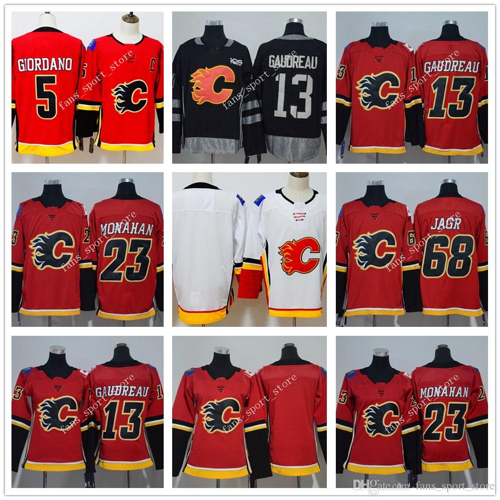 4c46f7a54 ... reduced new season calgary flames 68 jaromir jagr jersey mens women  youth red stitching 13 johnny