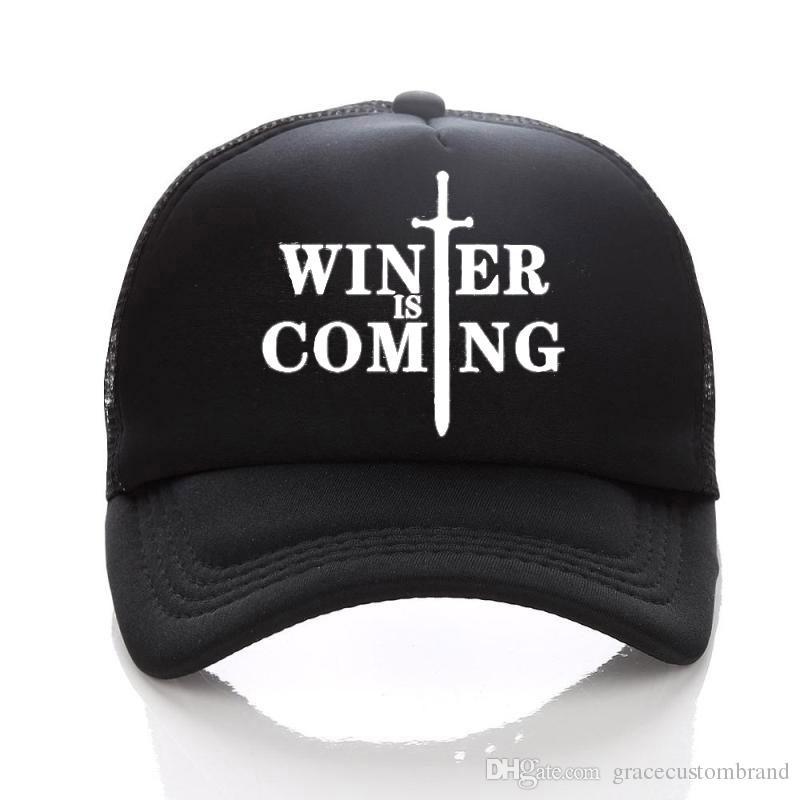 d0f59dbcd6e Game Of Thrones Hats Summer Mesh Sun CAPS Full Black Visors Baseball Hats  Family Children Adult Caps Adjust Men Hat Superman Cap Hat Embroidery From  ...