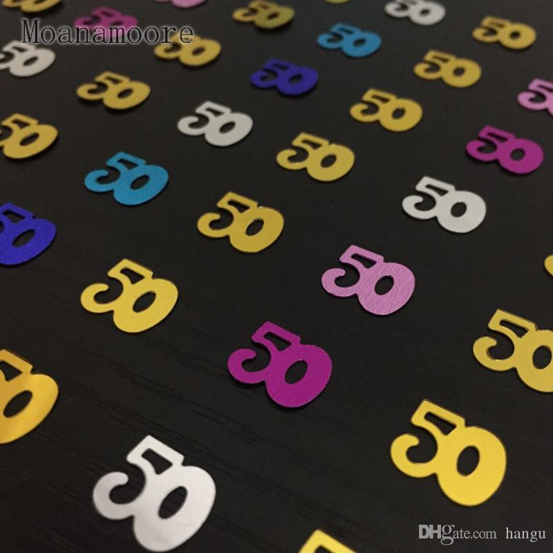 Ful Age 50th Men Women Lady Happy Birthday Party Table Scatter