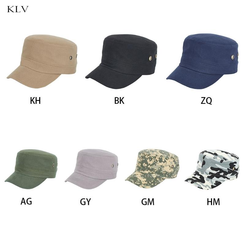 e3d99cfa Army Cap Adjustable Cadet Baseball Cap Casual Baseball Flat Top Hat Spring  And Autumn Solid Color Custom Baseball Hats Army Hats From Hongshaor, ...