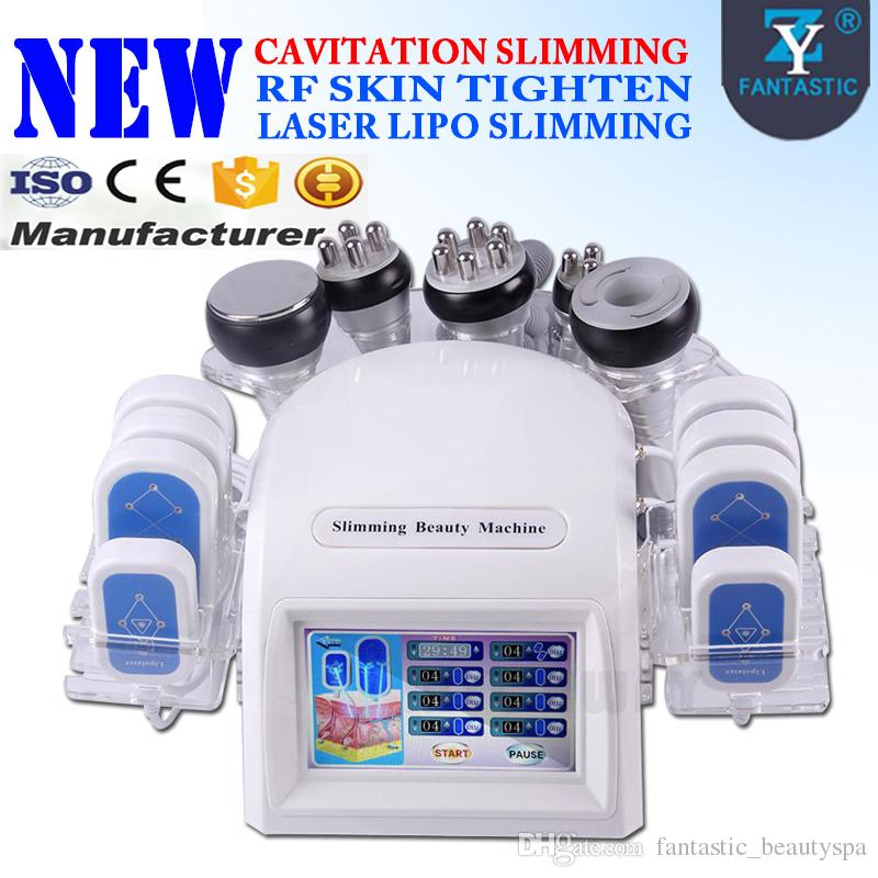 High Quality Laser Lipo Slimming Machine 40K Ultrasonic Cavitation Slimming  RF Skin Tightening Vacuum Liposuction Massage Skin Care Machine