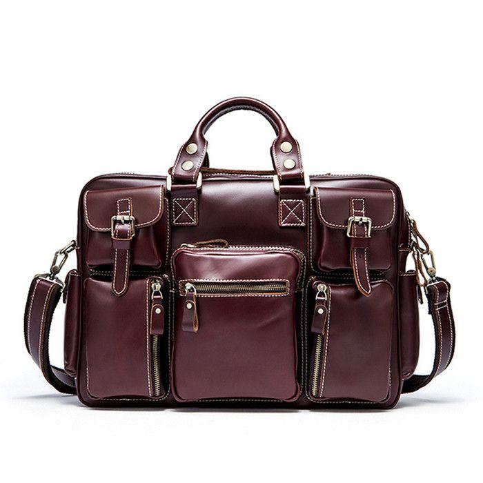 Quality Leather Briefcase Male Genuine Leather Messenger Bag Men Leather  Laptop Bag Briefcase Messenger Bags Men S Shoulder Bags Man Filson Original  ... baa55ea88bc2b