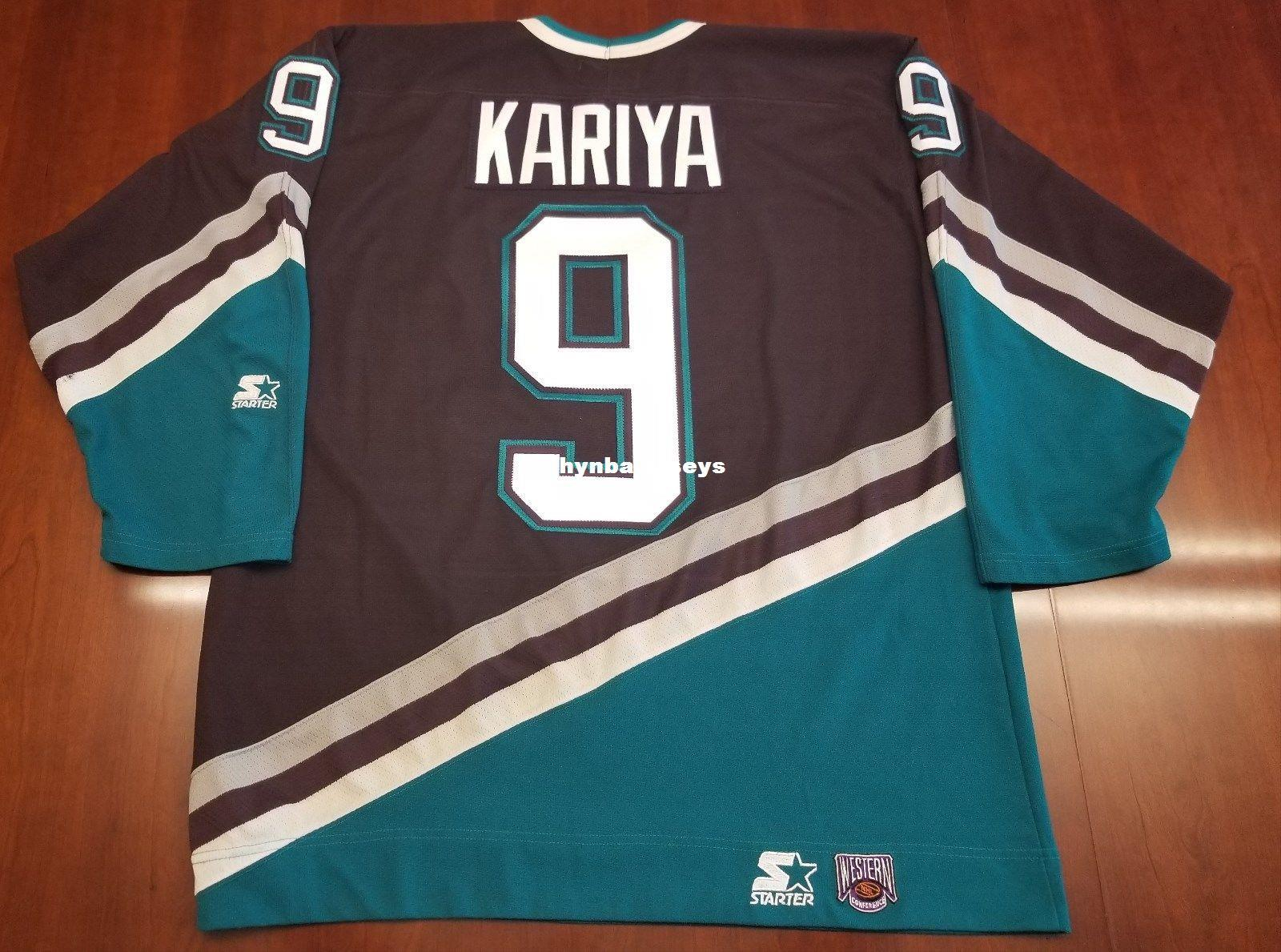 a17f3f818 Custom Paul Kariya Vintage Anaheim Ducks Starter Cheap Hockey Jersey ...