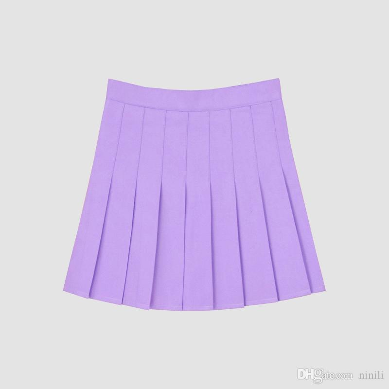8d513619bcbe 2019 Student High Waist A Line Skirt Women Kawaii Pleated Tennis Skirts For  Girls Large Size XS 4XL From Ninili, $13.05   DHgate.Com