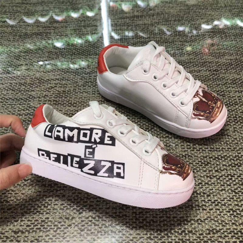 8cd657295a055 Acheter Marque De Luxe Jeunesse Chaussures De Mode Design Étudiant  Espadrilles New Pattent Garçons Filles Casual Chaussures Printemps Automne Enfant  Enfant ...