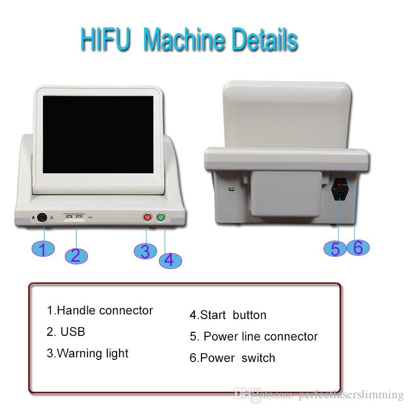 HIFU Face-лифтинг машина для удаления морщин HIFU для тела для похудения машина 10000 выстрелов каждый картридж утвержден CE