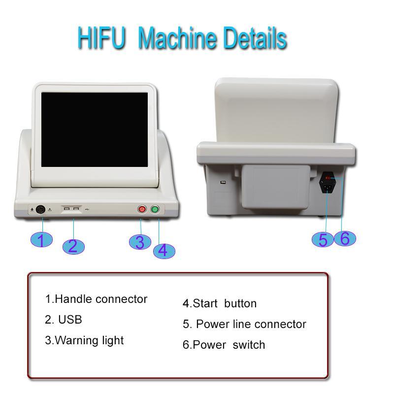 Hifu Facelifting Maschine Faltenentferner Hifu für Körper Schlankheitsmaschine 10.000 Schuss jede Patrone CE-Zulassung