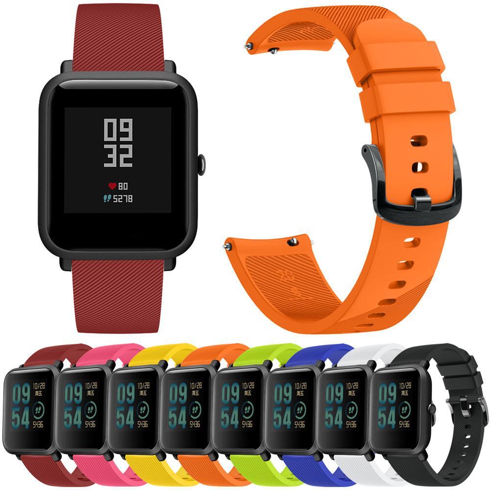 Soft Silicon Accessory Watch Band Wirstband For Huami Amazfit Bip Smartwatch Replacement Strap Youth Bracelet Quartz Wristwatch Fashion Relogio Femme Luxury Straps