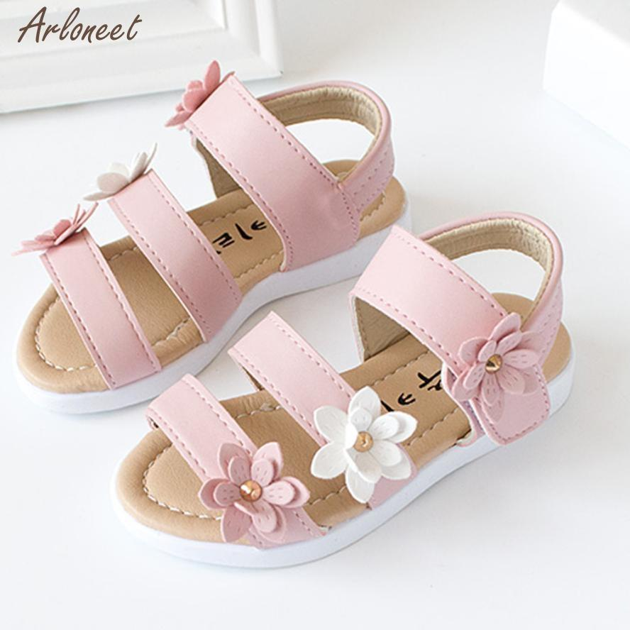 5f3f11cb8de1 2018 Baby Shoes Summer PU Flower Summer Kids Children Fashion Big Flower  Girls Flat Pricness Shoes Toddler Boys Tennis Shoes Best Tennis Shoes For  Kids From ...