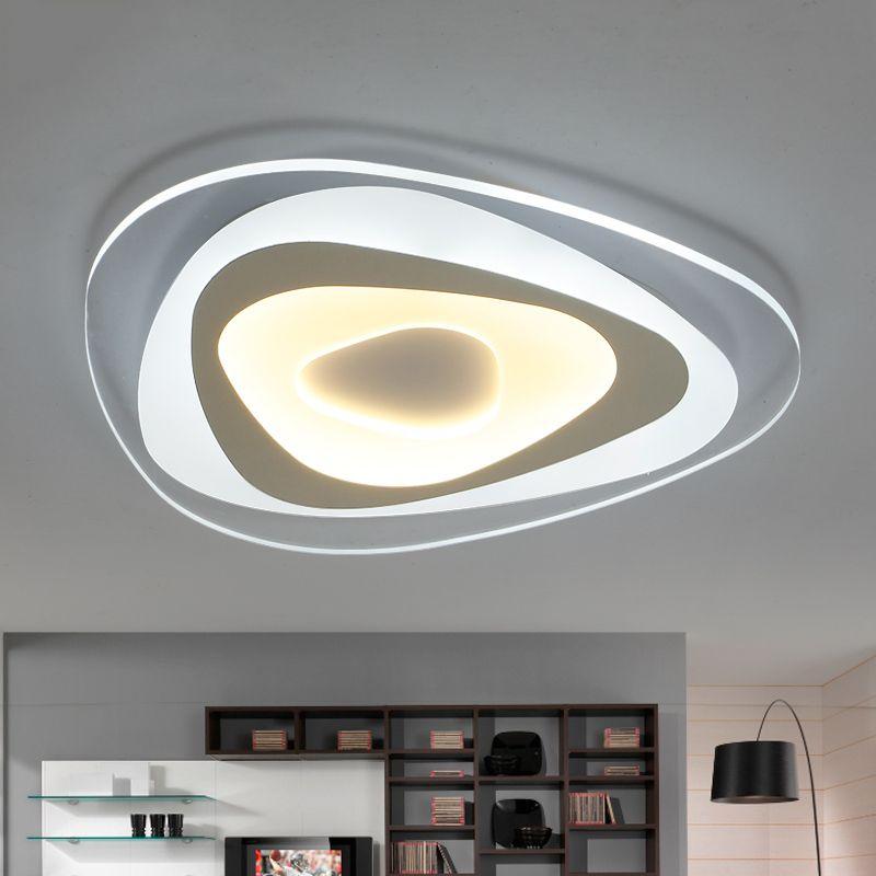 2018 110 220v Ultra Thin Acrylic Ceiling Lamp Luces Led Para Casas - Luces-led-para-casa