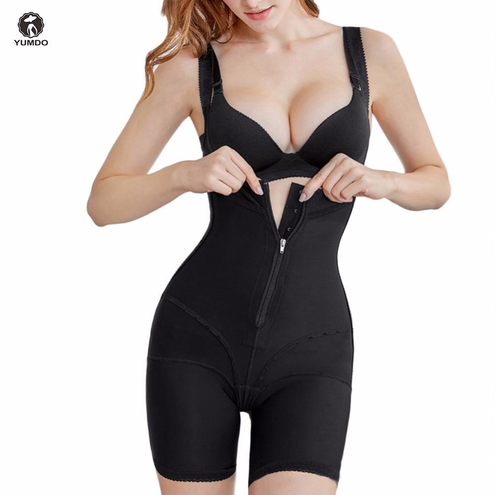 bdc505874 2019 YUMDO Full Body Shaper Zip Waist Trainer Hip Lifter Push UP Slimming  Shapewear From Biwanrou