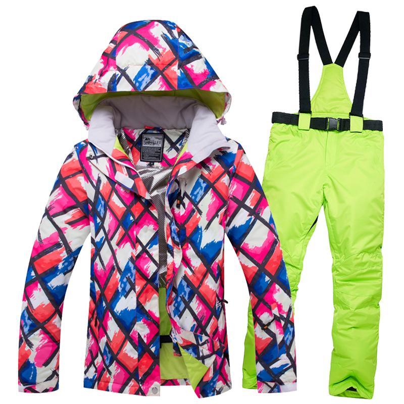 Winter Hose Sportbekleidung Winddicht Wasserdicht Riviyele Skijacke Verdicken Snowboard 2018 Kleidung Thermal Anzug Outdoor Frauen 4Rj35AL