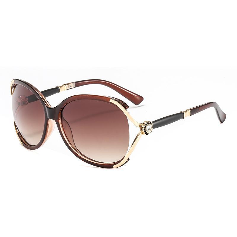 874a44f501 Compre Gafas De Sol De Lujo De Diamante Para Las Mujeres Diseñador De La  Marca De Moda Oval Color Mixto Marco De Calidad Superior Protección UV  Lente A ...
