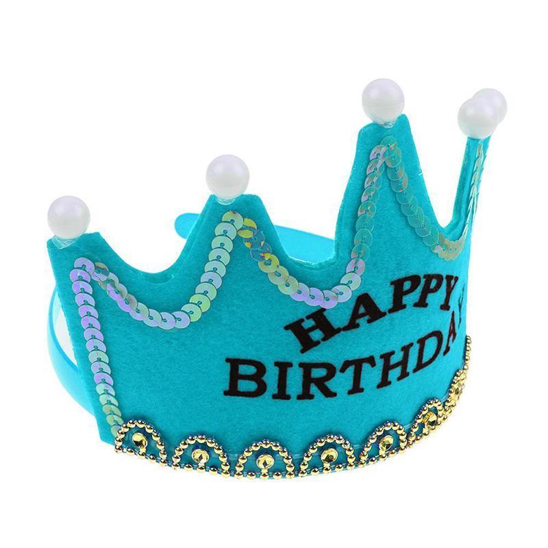 Princess crown cap birthday happy party party decorations ragazza che decora il cappello di compleanno