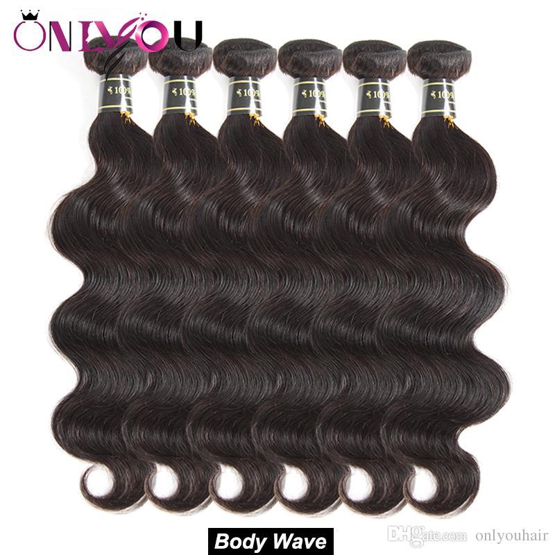 Hot Brazilian Body Wave Virgin Hair Bundle Deals Remy Human Hair Extensions 4/5/6 Body Weave Human Hair Weave Bundles