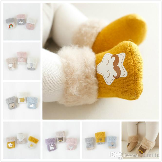 6b38782d0 Cotton Cartoon Animal Baby Socks Winter Thicken Warm Newborn Baby ...