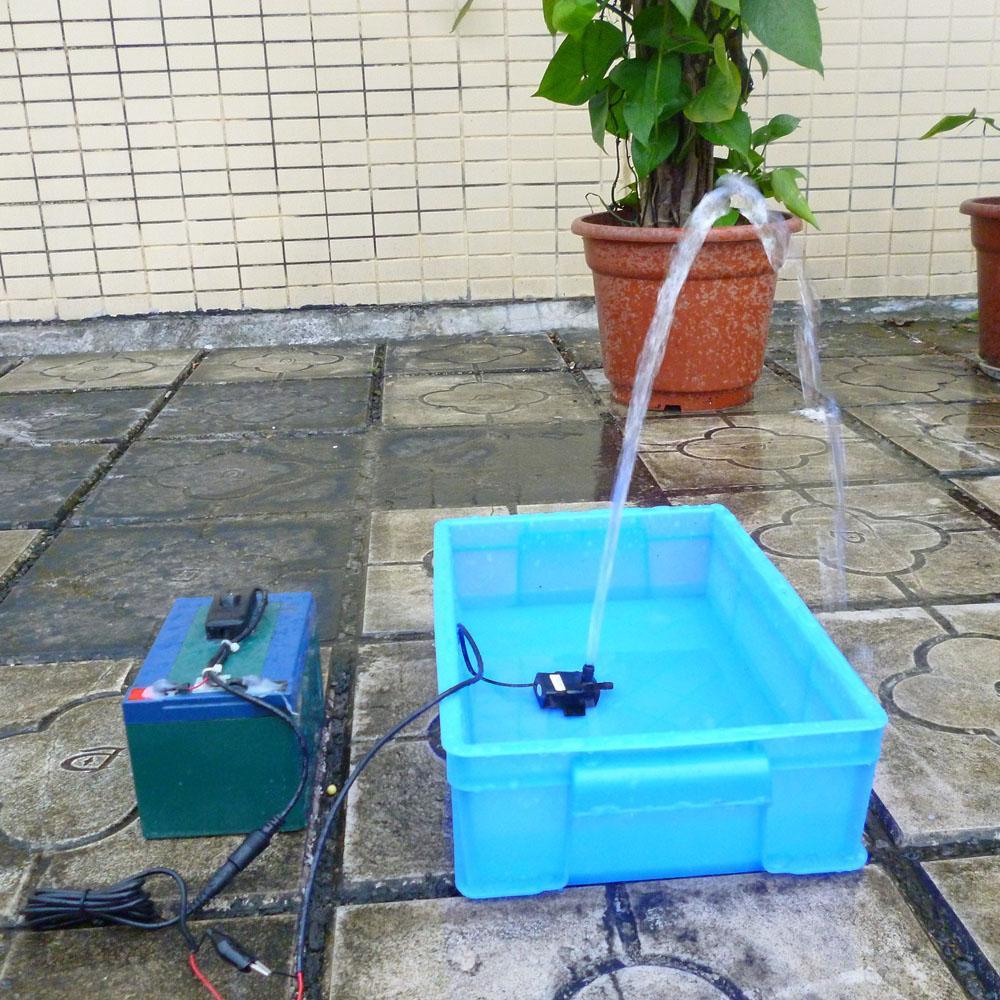 Freeshipping Ultra-quiet Mini Oil Water Pump DC12V 4.5W Micro Brushless Waterproof DC Pump Submersible Fountain Aquarium Circulating
