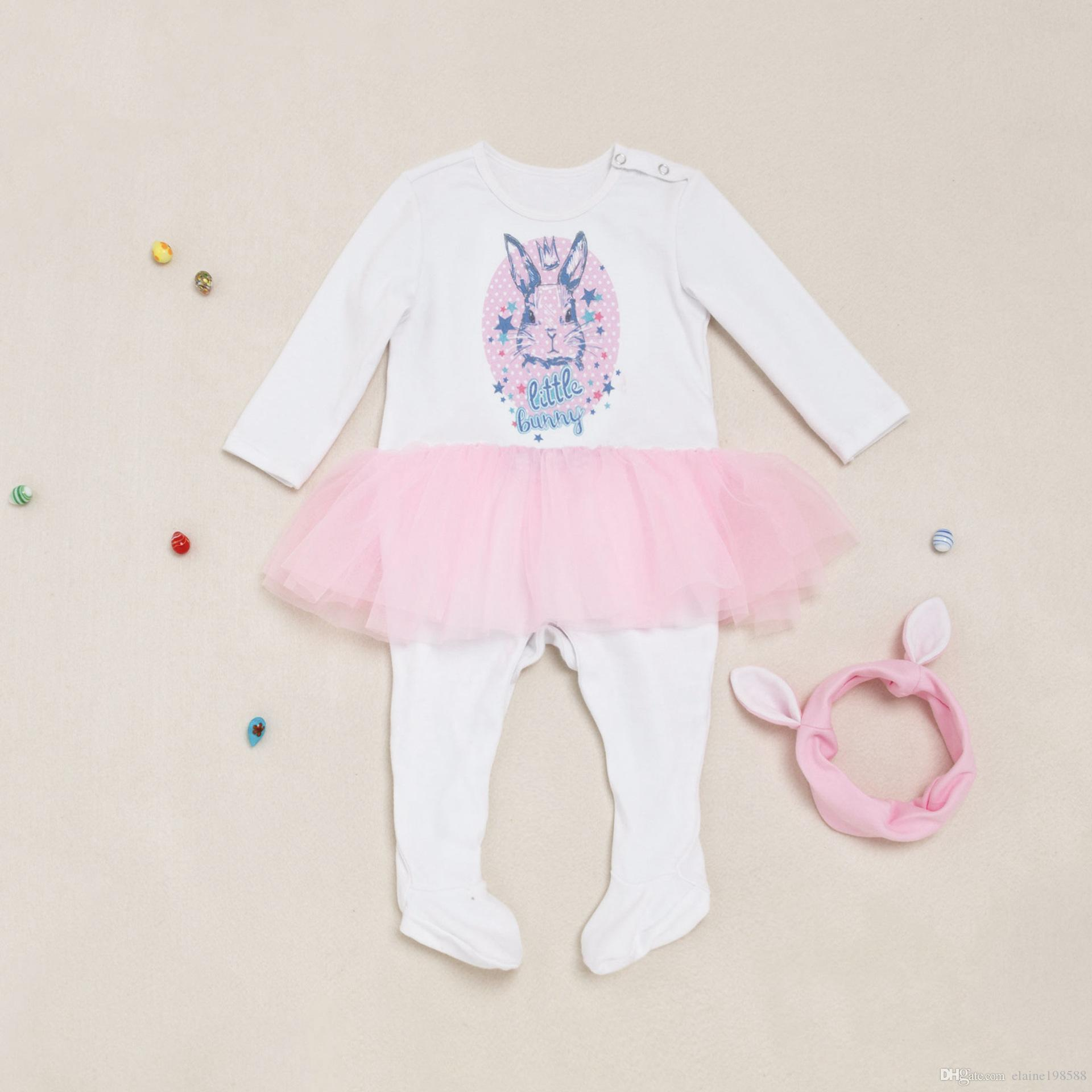 85e815bae 2019 Baby Girl Overalls Clothes 0 24 Month Infant Autumn Winter ...