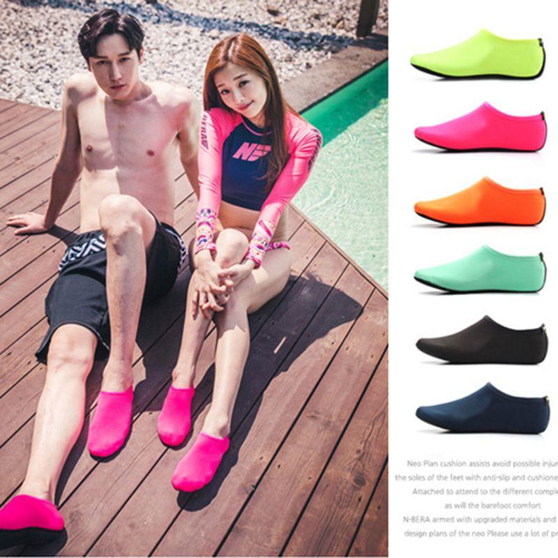 b9a5169af7cd 2019 Quick Dry Beach Socks Barefoot Water Shoes Aqua Socks Sand Socks For  Beach Surf Pool Swim Yoga Aerobics Men   Women And Kids