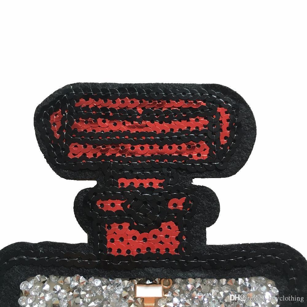 Grande Lantejoulas Patch Garrafa De Perfume De Ferro Em Applique Para Roupas Adesivos de Tecido Acessórios De Costura Bordado Patch Decalques