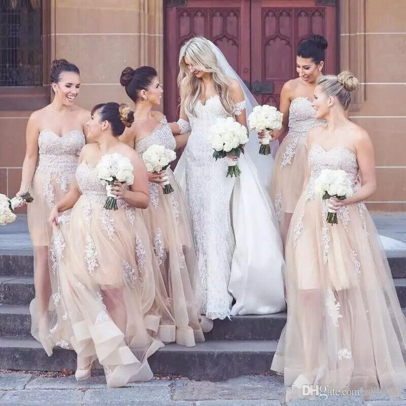 Spring Champagne Bridesmaid Dresses