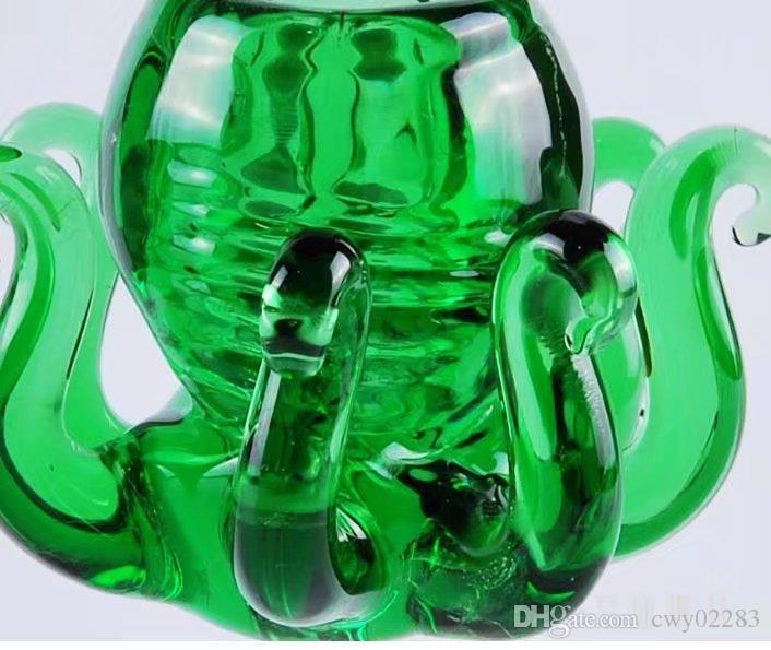 동물 거품 머리 도매 유리 봉 오일 버너 유리 물 파이프 오일 렌지 흡연 무료
