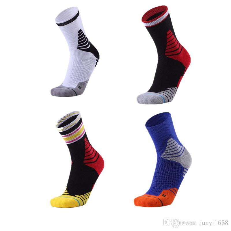 f1db4e8d6f 2019 New Basketball Cycling Sports Socks GYM Outdoor Fitness Running Soccer  Breathable Quick Dry High Elastic Elite Sock MJ1807 From Junyi1688, ...
