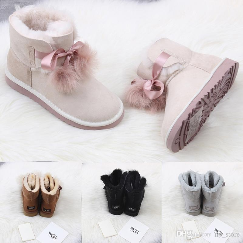 2018 WGG Women S Australia Classic Tall Boots Women Girl Boots Boot Snow  Winter Black Blue Bow Tie Boots Leather Shoes Size 36 41 Bootie Buy Shoes  Online ... 8471a24fc