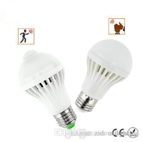 Pir 5w 7w Intelligente Mouvement Ampoule Lampe Corps E27Sono De Capteur Détecteur Infrarouge Led À 7Y6mfIbgvy