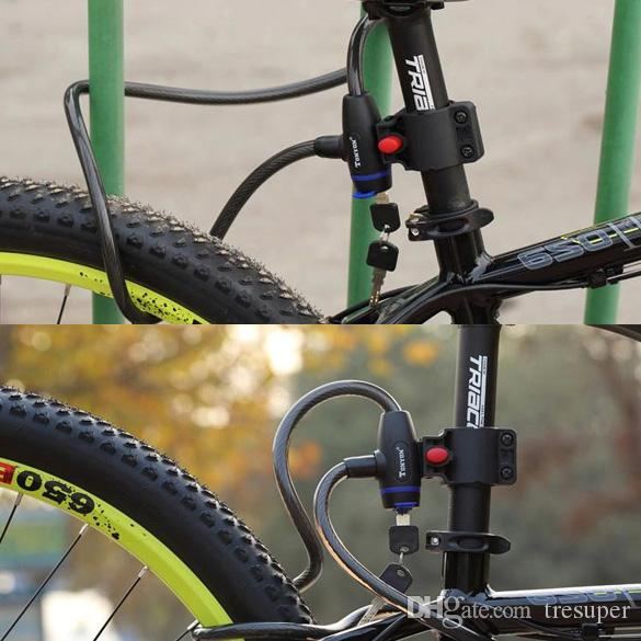 Bicycle Lock Bike Security Key Locks Cycling Mountain Bike Anti-Theft Chain Lock Steel Spiral Cable 1000x12mm