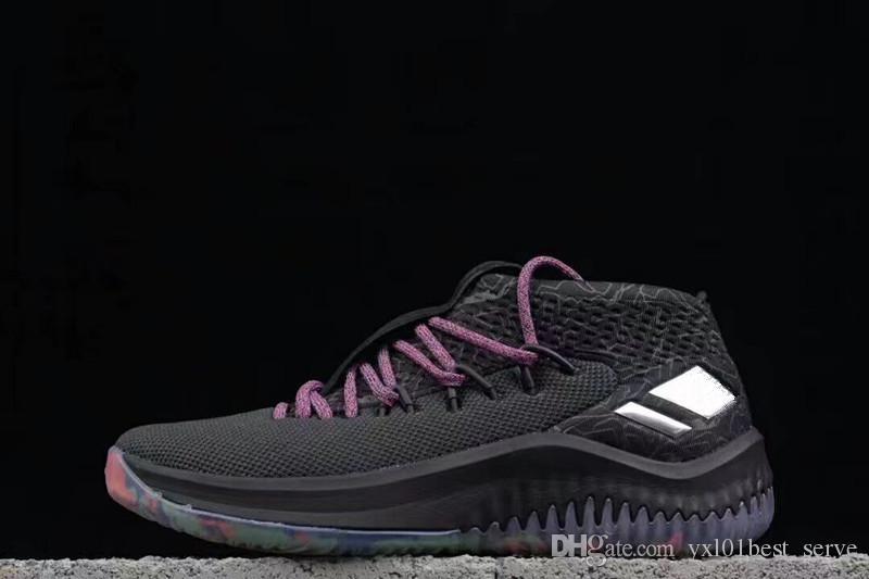 size 40 664b0 317f0 Großhandel Neue Ankunft 2018 Mens Sneakers Dame 4 1 Damian  Lillardbasketball Schuhe Für Hohe Qualität 4s Designer Zapatillas Marke  Sportschuhe Größe 39 45 ...