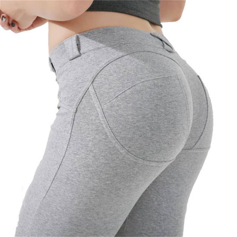 464f39e503d2 Low Waist Leggings For Women Sexy Hip Push Up Fitness Jegging Women ...