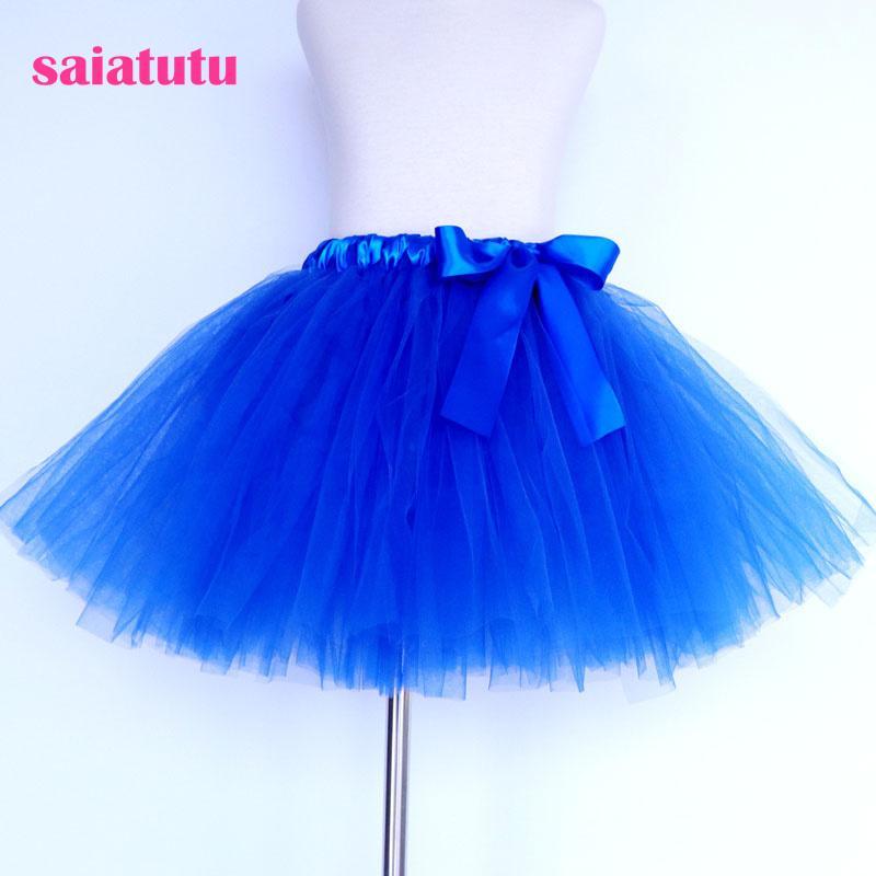 d1e1f92e9 zafiro azul real tul niños niños tutú niña falda niño traje de baile  vestido de fiesta baile de la boda cortocircuito pettiskirt