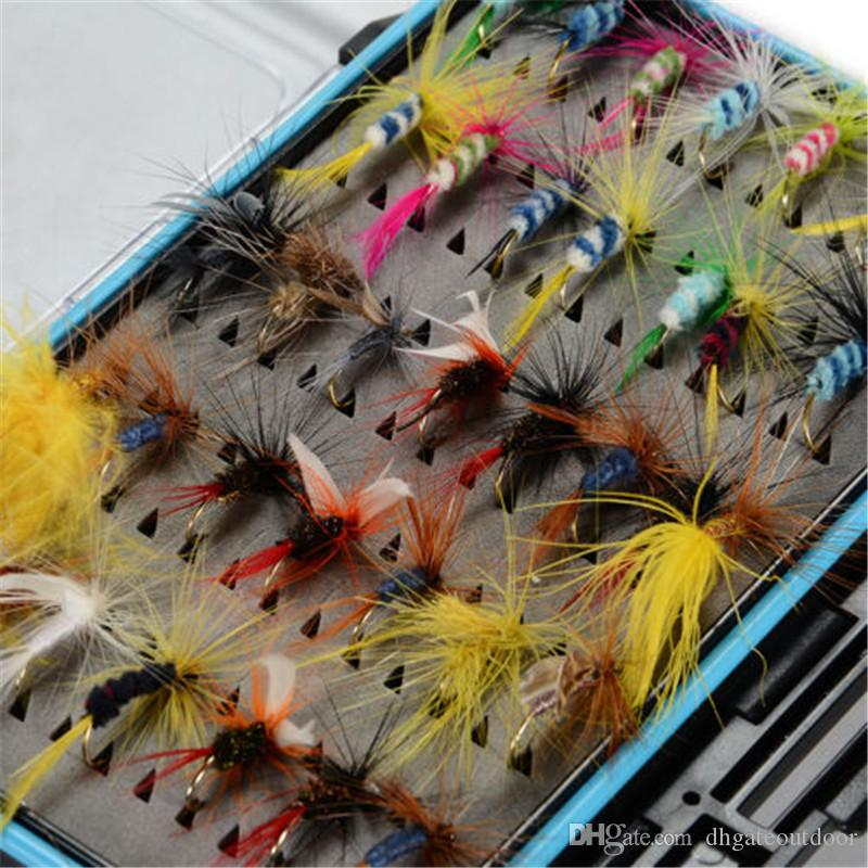 Fly Fishing Lure Flies Trout Lures Dry Flies Nymphs Ice Fishing Lures Set Artificial Bait With Box For Carp Trout